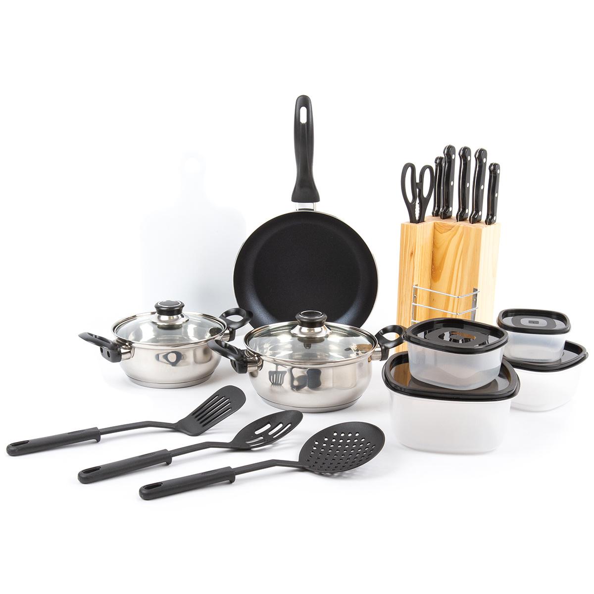 18dílná sada nádobí s kuchyňským náčiním