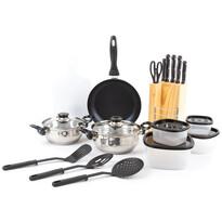 18 részes edénykészlet konyhai eszközökkel