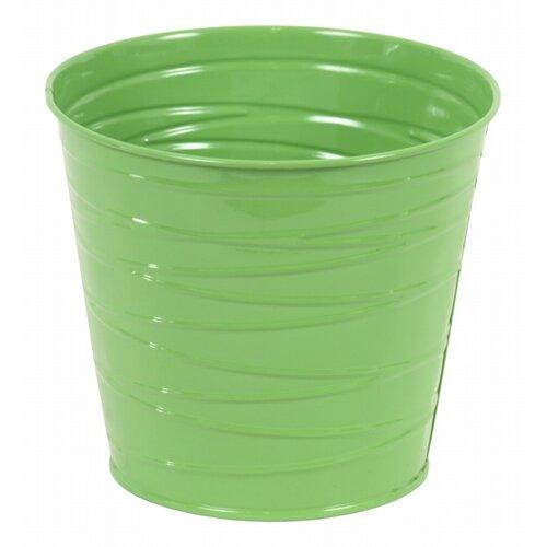 Kovový kvetináč zelená