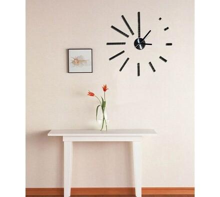 Nástěnné hodiny samolepicí, černá, 50 x 50 cm