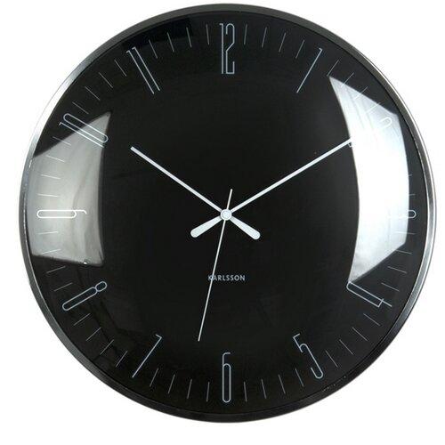 Fotografie Karlsson 5623BK Designové nástěnné hodiny, 40 cm