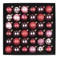 Set decorațiuni Crăciun Ornate, roșu, box ,36 buc.