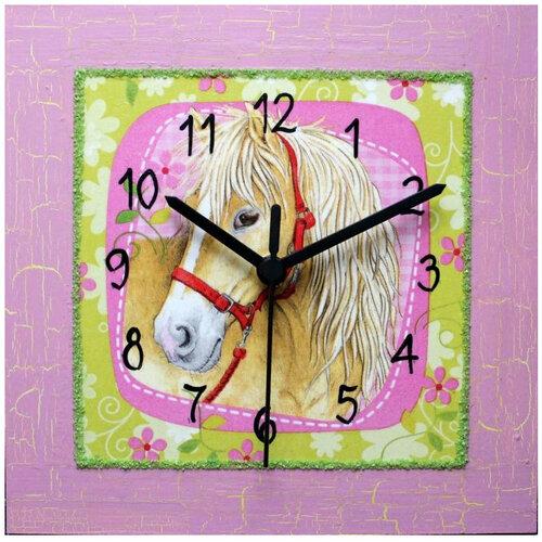 Nástenné hodiny Koňský portrét