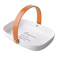 Altom Organic porcelán szervírozó tálca, 20 x 14 x 4 cm