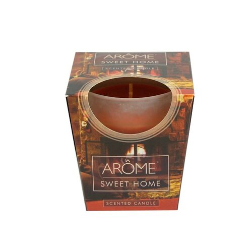 Arome Kónická vonná sviečka v skle Sweet Home, 100 g