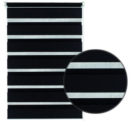 Roleta easyfix dvojitá černá, 75 x 150 cm