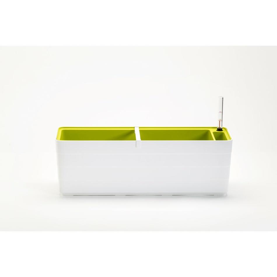Plastia Samozavlažovací truhlík Berberis 60, bílá + zelená