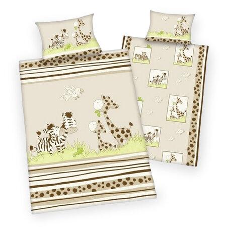 Pościel dziecięca do łóżeczka Jana Safari, 135 x 100 cm, 40 x 60 cm