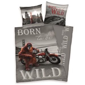 Bavlněné povlečení Born to be wild, 140 x 200 cm, 70 x 90 cm