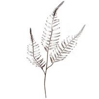 Veľká dekoratívna vetvička papradie, strieborná, v. 70 cm