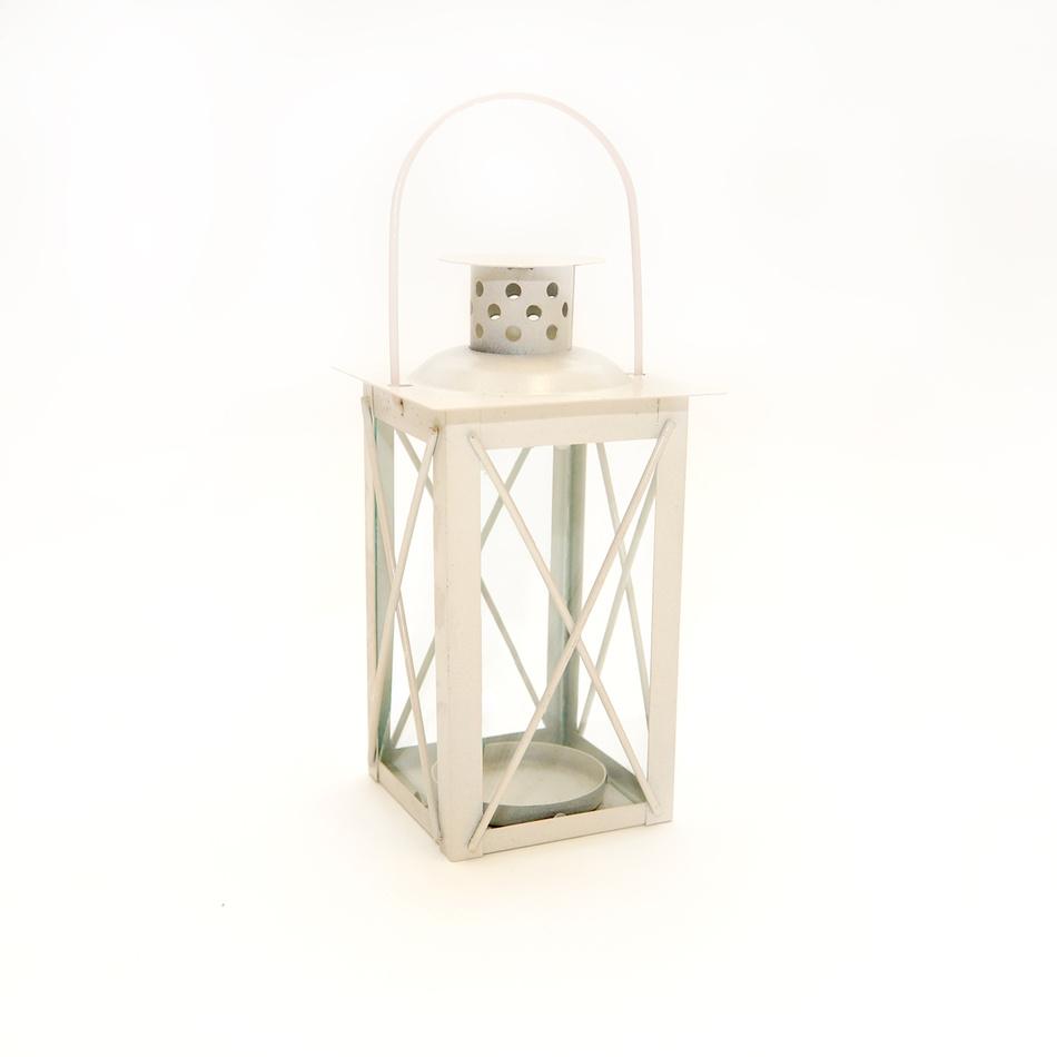 Mini lucerna 14 cm, biela