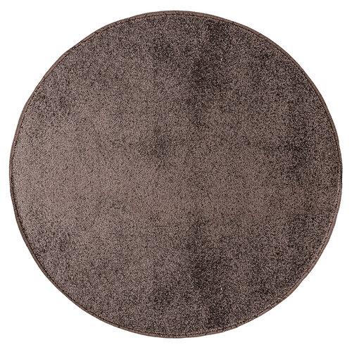 Kusový koberec Capri hnedá, pr. 80 cm