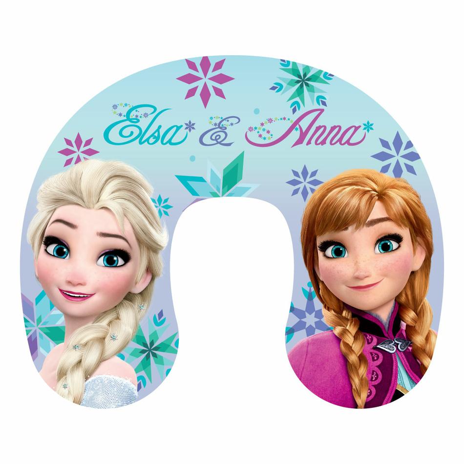 Jerry Fabrics Cestovní polštářek Ledové Království Frozen Anna and Elsa, 40 x 40 cm