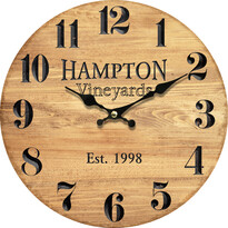 Drevené nástenné hodiny Hampton, pr. 34 cm