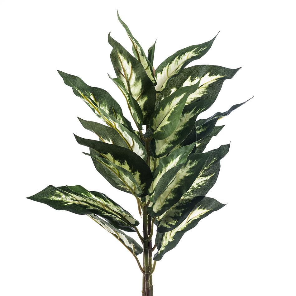 Fotografie Umělá mramornatka skvrnitá, zeleno-krémová, 45 cm, HTH