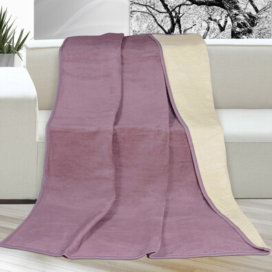 Pătură Kira, roz vechi, 150 x 200 cm