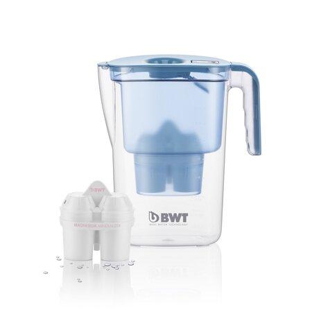 BWT dzbanek filtrujący Vida 2,6 l niebieski + 3x filtr Mg2+