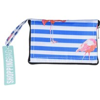 Skladacia nákupná taška Flamingo, 37 x 50 cm