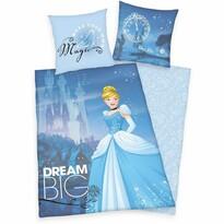 Detské bavlnené obliečky Popoluška Big Dream, 140 x 200 cm, 70 x 90 cm