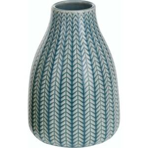 Porcelánová váza Knit tyrkysová, 16 cm