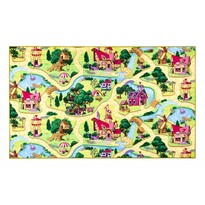 Detský koberec Rozprávková dedinka, 80 x 120 cm