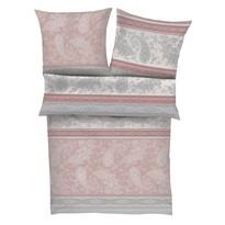 Zeitgeist Saténové obliečky 5517/550 ružová/sivá, 140 x 200 cm, 70 x 90 cm