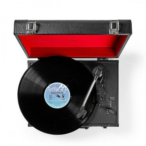 Nedis Kufríkový gramofón 18 W, čierna