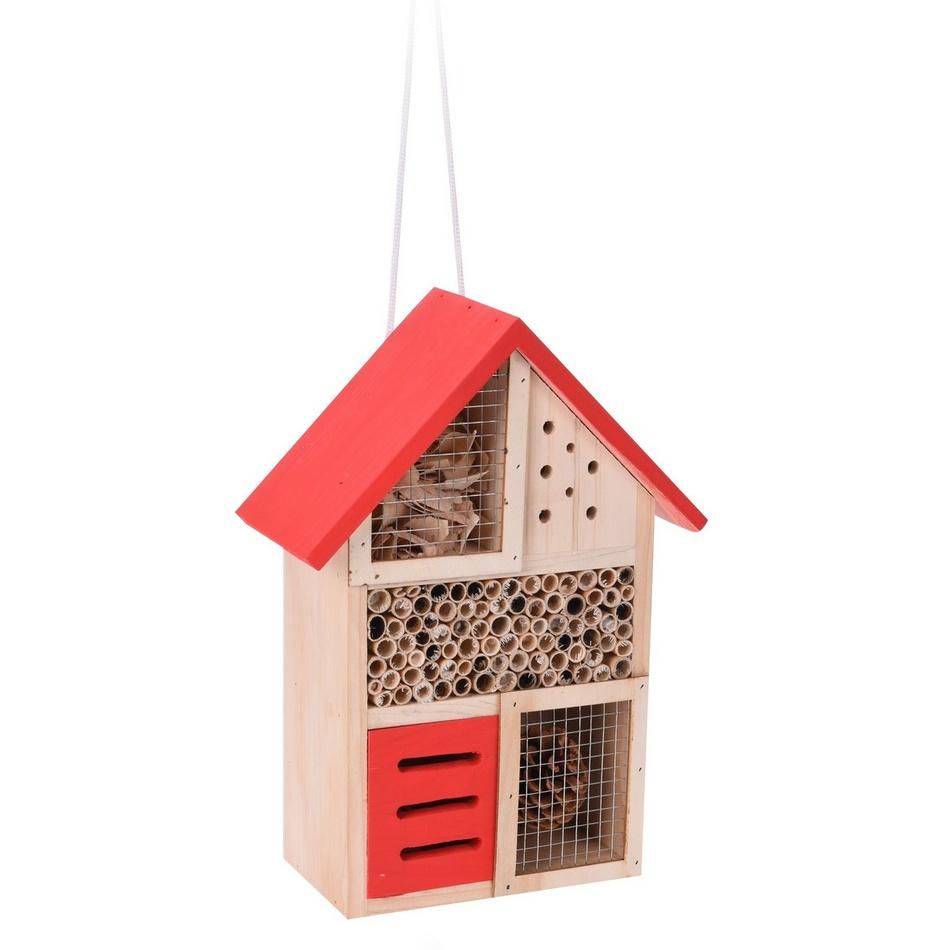 Domček pre hmyz, červená