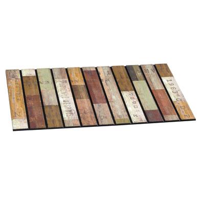 Covoraş intrare exterior Rustic wood slats, 46 x 76 cm