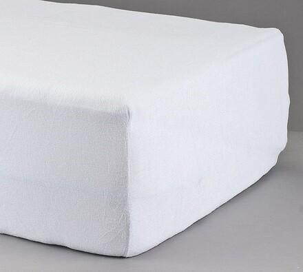 Prostěradlo froté, bílé, 90 x 200 cm