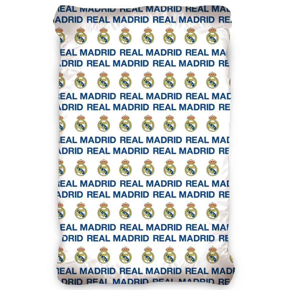TipTrade Bavlněné prostěradlo Real Madrid, 90 x 200 cm