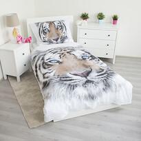 Jerry Fabrics White Tiger pamut ágynemű, 140 x 200 cm, 70 x 90 cm