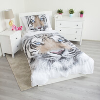 Lenjerie bumbac Jerry Fabrics White Tiger, 140 x 200 cm, 70 x 90 cm