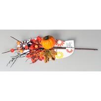 Jesenná vetvička s bobuľami a tekvicou, 40 cm