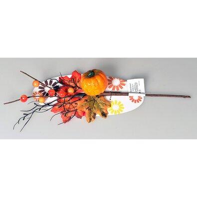 Podzimní větvička s bobulemi a dýní, 40 cm