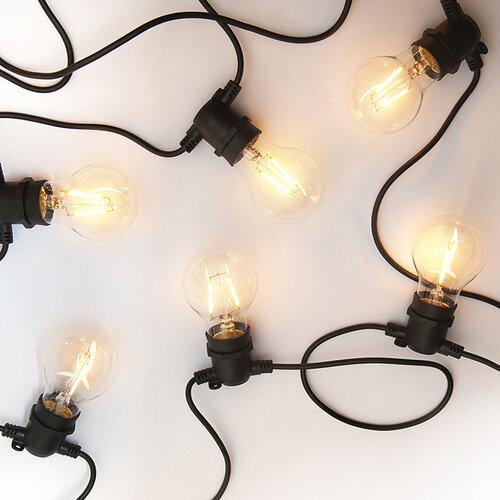 Exihand LO-3456 párty řetěz s 10 žárovkami 8,4 m, teplá bílá