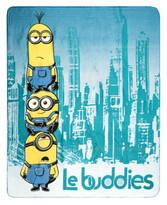 Koc dziecięcy Minionki Le buddies, 120 x 150 cm