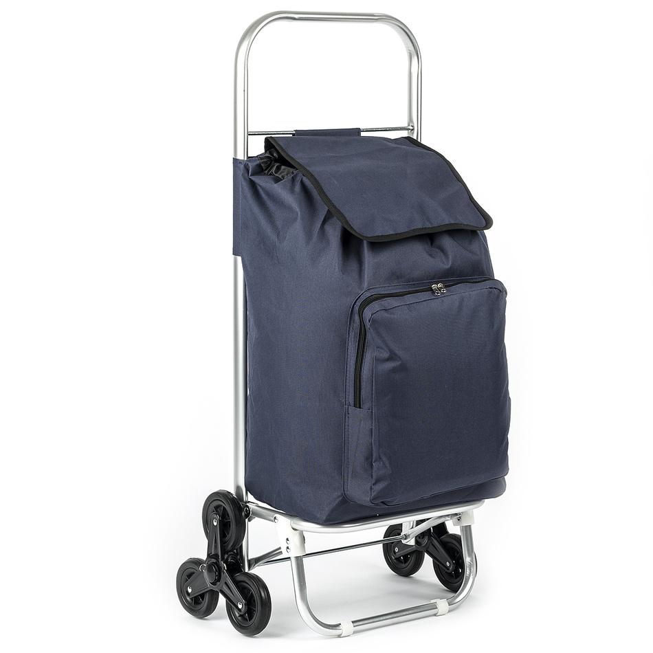 Nákupní taška na kolečkách Milano modrá