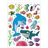 Samolepiaca dekorácia Morský život, 42,5 x 65 cm