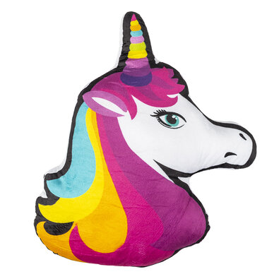 Pernă cu formă aparte Unicorn, color, 33 x 42 cm
