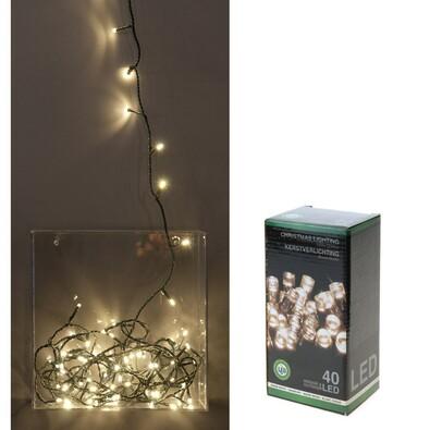 Vánoční světelný řetěz, bílý, 40 LED, bílá