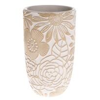 Betonová váza Flower, béžová, 12,5 x 21 x 12,5 cm