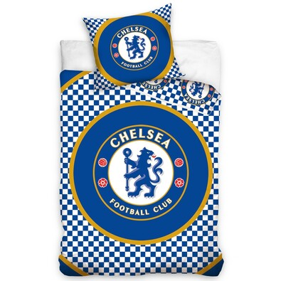 Bavlněné povlečení FC Chelsea Circle, 140 x 200 cm, 70 x 80 cm