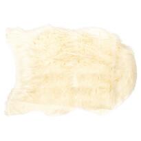 """Futrzany dywanik """"Claire"""" kremowy, 60 x 90 cm"""
