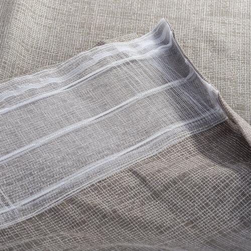 Záves s riasiacou páskou Roko biela, 140 x 245 cm