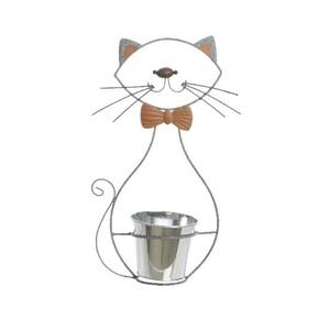 Zinkový květináč Kočka