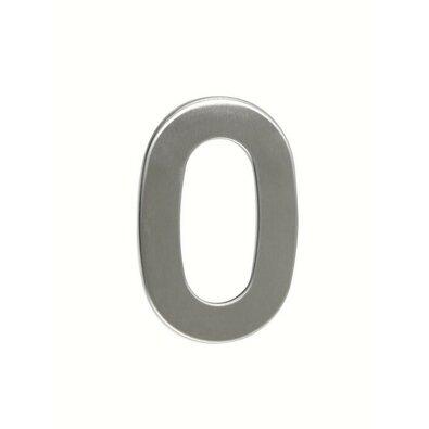 Rozsdamentes acél házszám, 0, 2D, lapos