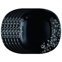 Luminarc Sada dezertných tanierov Ombrelle 20 cm, 6 ks, čierna