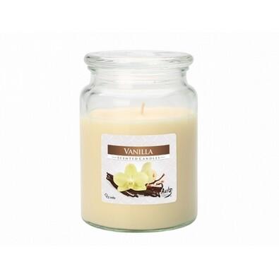 Vonná sviečka v skle Vanilka, 500 g