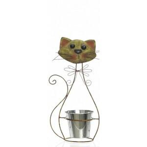 Zinkový květináč Kotě